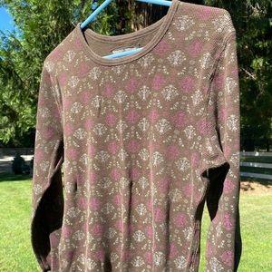 Brown Long Sleeve Thermal Shirt